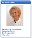 Dr. med. Helgard Dekant - Innere Medizin