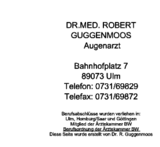 Dr. Robert Guggenmoos